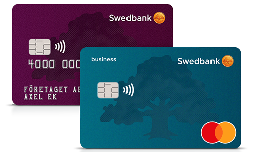 Mastercard Bankkort Business och Visa Business Card